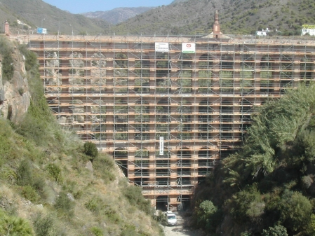 Alquiler Andamios para el Acueducto del Águila, Nerja